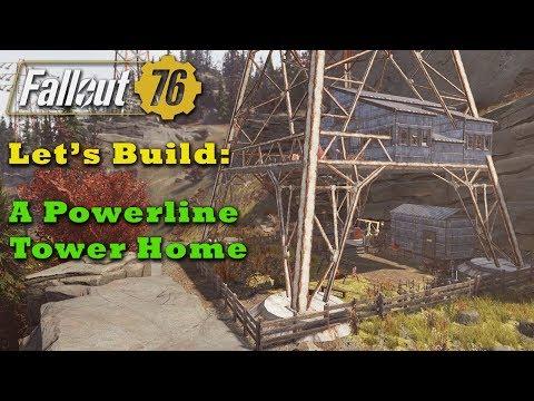 Fallout 76 C.A.M.P. Build: A Powerline Tower Home thumbnail