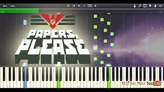 Download Papers, Please - Main Theme Piano Tutorial (Synthesia Cover) MP3 song and Music Video