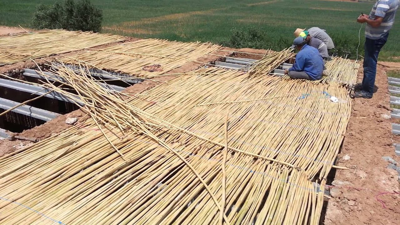 Dirt House Under Construction In Morocco Part 3 Bamboo