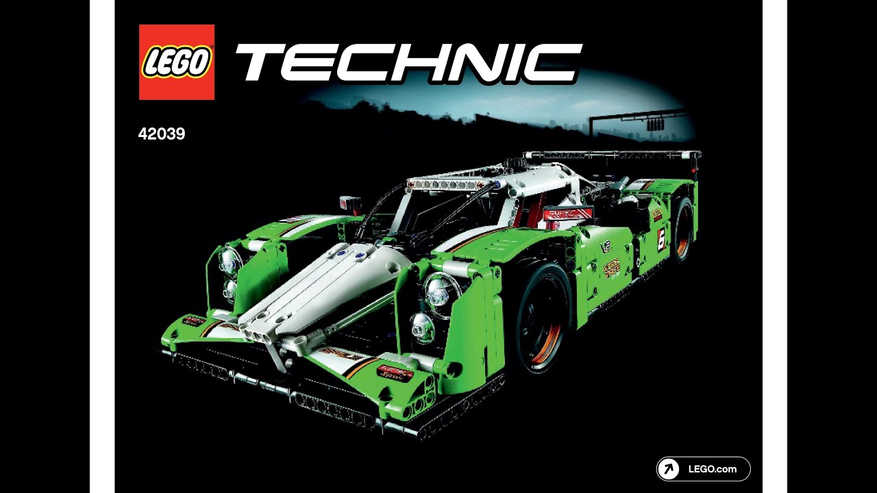 lego 42039 24 hours race car instructions lego technic. Black Bedroom Furniture Sets. Home Design Ideas