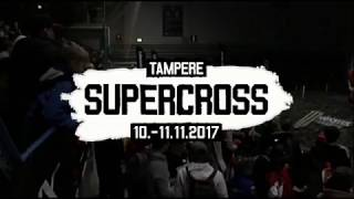 Alex Ray USA (#91) and Ashley Greedy GBR (#33) head-to-head crash at Tampere Supercross