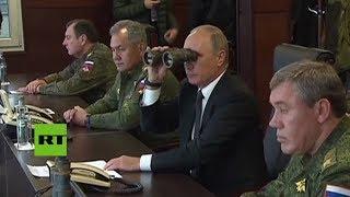 Video: IMPRESIONANTE: Putin presenció los ejercicios militares en Bielorrusia