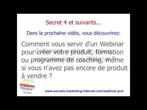 Les 4 Secrets Des Webinars Qui Vendent