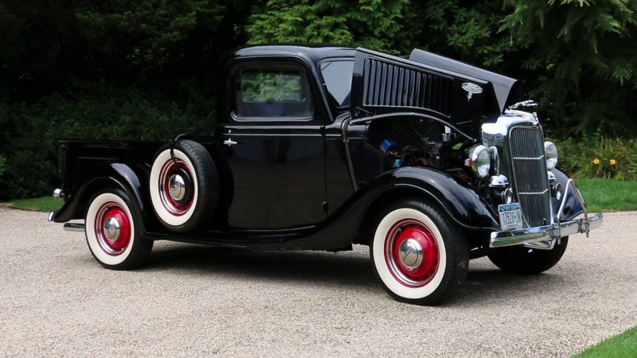 1936 Ford Pick Up For Sale~All Steel~Flathead V8~Beautifully Restored Truck