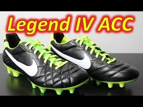 Nike Tiempo Legend IV ACC Black/Electric Green/White - Unboxing + On Feet. Soccer  Reviews For You