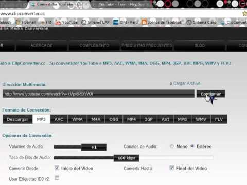 convertir un video de youtube a mp3