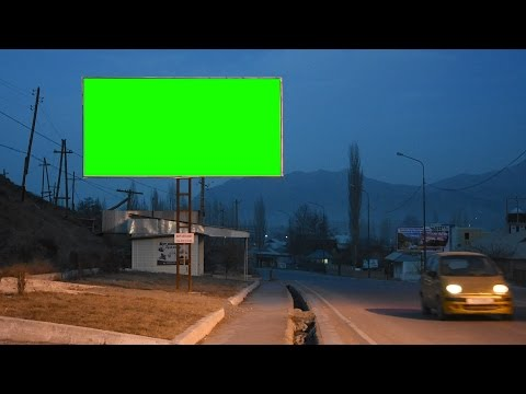 Best street adv banners green screen collections free royalty footage collectonns