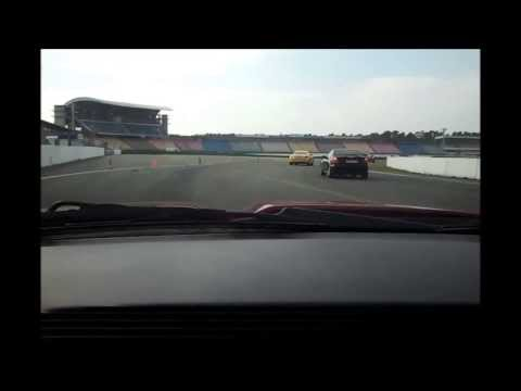 Chasing Porsche Cayman S on Hockenheimring, 16.03.14