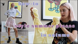 How to style Summer clothes in Autumn! Back to school styling video | Susielola