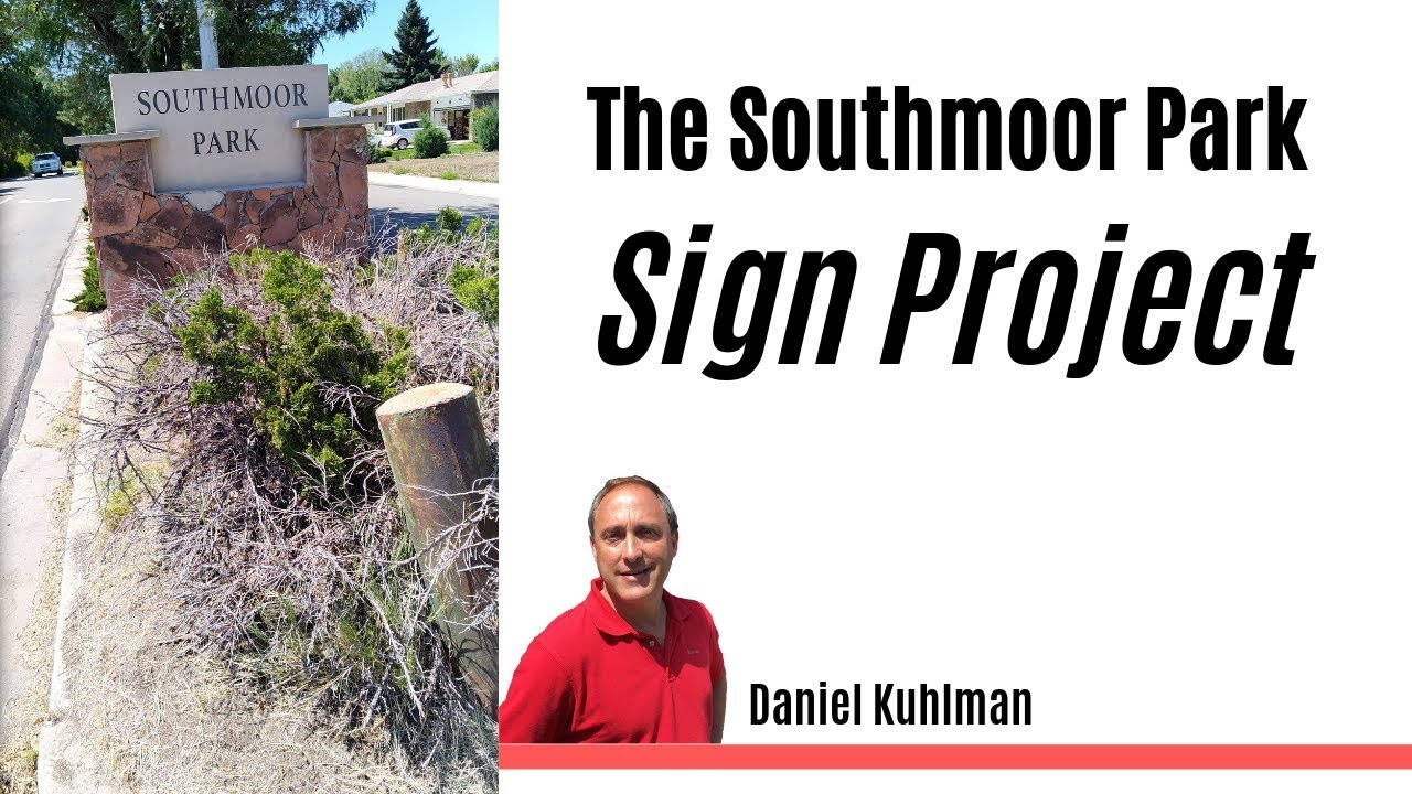 Southmoor Park Sign Project