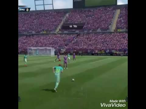 Incredible free kick in Fifa 17 by Jérémy Mathieu