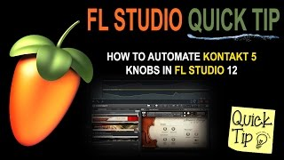 How to automate kontakt 5 knobs in FL Studio