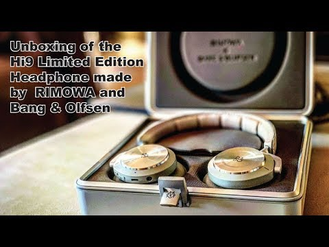 Unboxing the Rimowa and Bang & Olufsen Hi9 Headphone