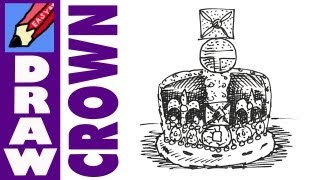 How to draw The Crown