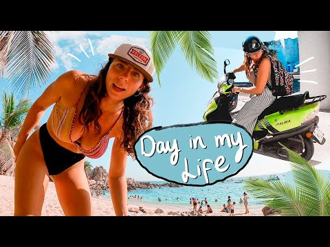 Day in the Life in Puerto Escondido 🌴🇲🇽 Oaxaca, Mexico thumbnail