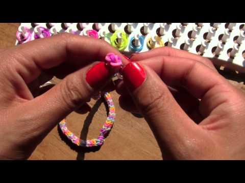 Loom met vork, Aztec armbandje, flat chevron - YouTube