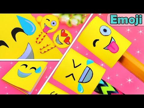 3 DIY SCHOOL SUPPLIES EMOJIS -Back to School Ideas from Paper Tutorial