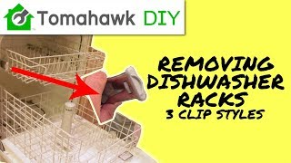 How to Remove a Dishwasher Rack (End Clip / End Cap)