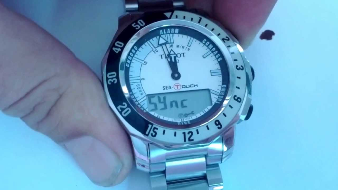 reset the hands on tissot sea touch youtube rh youtube com tissot sailing touch user manual Tissot Diver