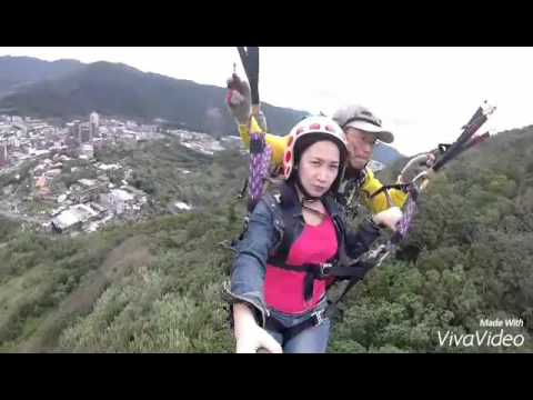 Paragliding at Keelung Taiwan awesome experienced
