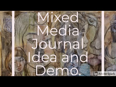 Mixed Media Visual Journal: Idea And Demonstration With Faces