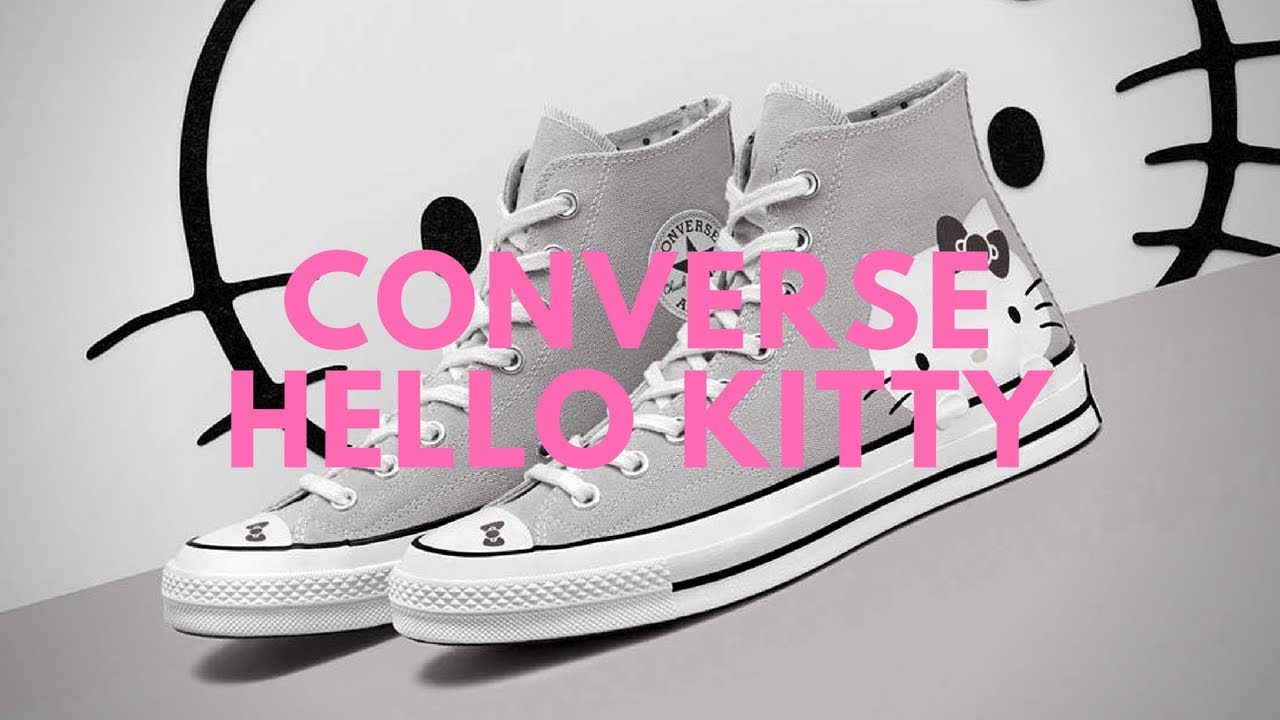 67f366c9f2dd Cute Sneakers Hello Kitty Converse Chuck Taylor One Star - YouTube