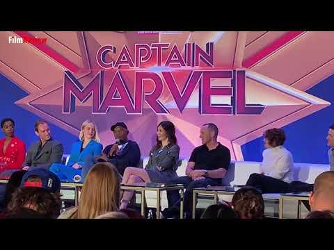 Captain Marvel Press Conference - Samuel L Jackson and the Alien Cat
