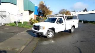 Lot #0102: 2008 GMC 2500 HD Utility Bed Truck