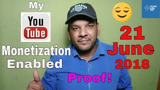 Youtube monetization 2018 is now enabled on my channel | Big relief for other youtubers