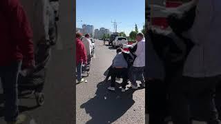 Последствия серьезного ДТП на Мебельной улице