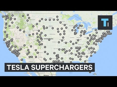 Here are the new Superchargers Tesla is adding in 2017
