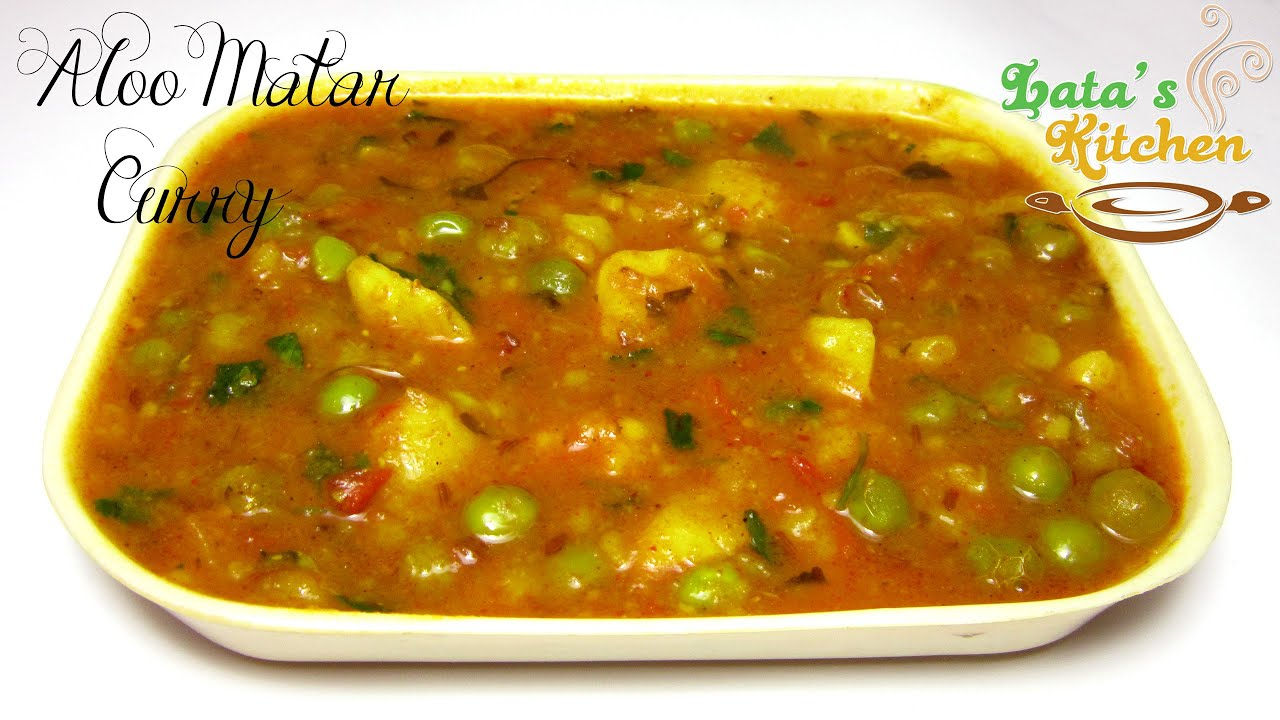 Aloo matar curry indian vegetarian recipe video in hindi with aloo matar curry indian vegetarian recipe video in hindi with english subtitles latas kitchen youtube forumfinder Images