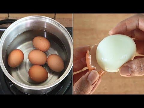 水煮蛋加上它,煮再久也不裂開,蛋殼一碰就掉,快速煮出完美水煮蛋!