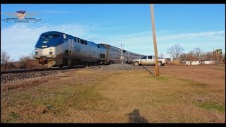 Southbound Amtrak City of New Orleans #59-Glendora, Mississippi
