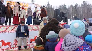 2017_02_18 Масленица_г.Миасс,  4 часть_Медведь, вставай