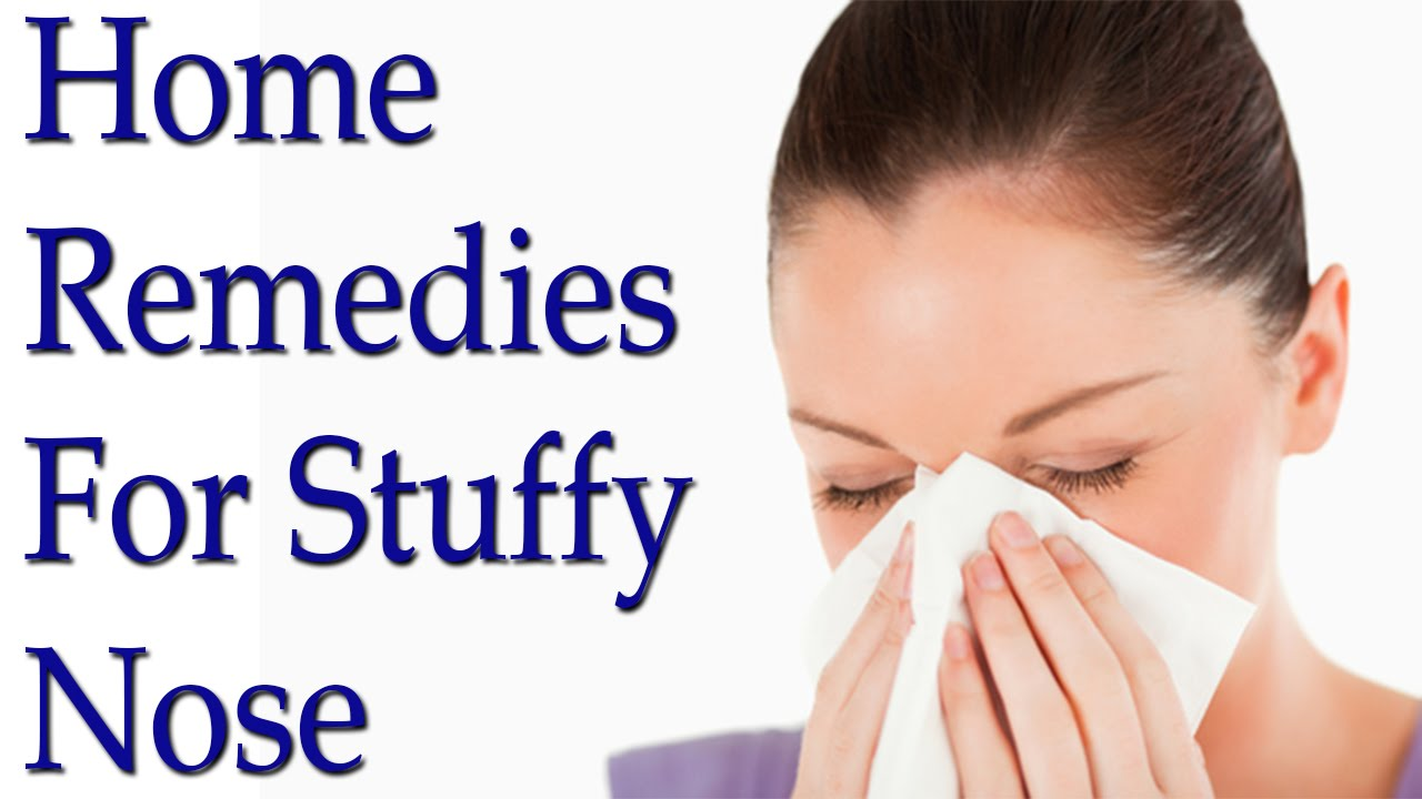 how to clear a blocked nose home remedies