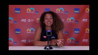 Naomi Osaka Press Conference after loss to Maria Sakkari in 2021 Miami QF