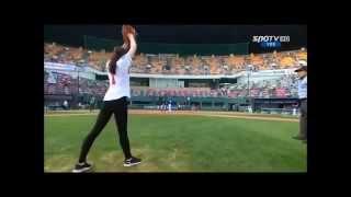 Бейсбол женские подачи))