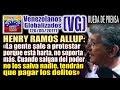 HENRY RAMOS ALLUP - Rueda de Prensa en la movilización de los Libertadores – (VG)