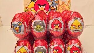24 Surprise Eggs Angry Birds,Кіндер Яйця Сюрприз Енгрі Бердс від Конфитрейд російською