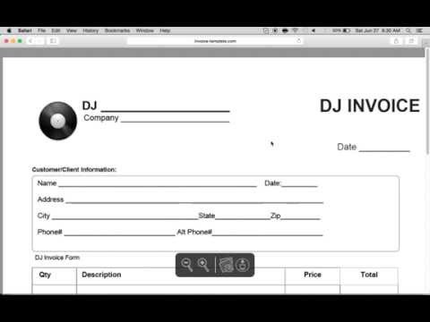 Dj Invoice Template Free Download  FirmsinjaInfo