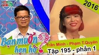 Cô giáo xứ Nghệ chinh phục chàng trai với giọng hát truyền cảm   Trần Minh - Phạm T.Quyên   BMHH 195