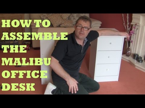 HOW TO ASSEMBLE THE MALIBU DESK FROM ARGOS