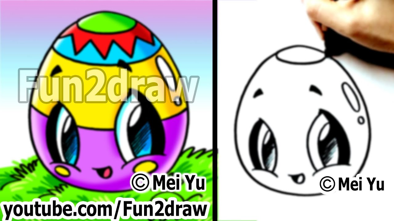 Image of: Kawaii Kawaii Easy Cute Things To Draw For Beginners Easter Egg Fun Things To Draw Fun2draw Youtube Youtube Kawaii Easy Cute Things To Draw For Beginners Easter Egg Fun