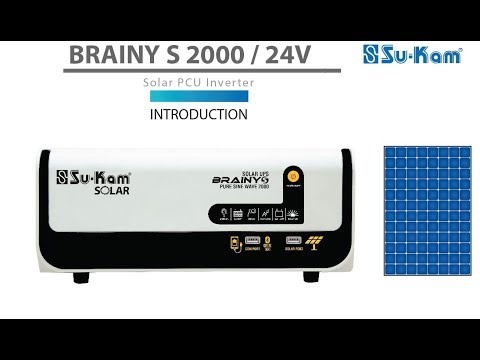 Solar power for every home.... Su-Kam Brainy S 2000