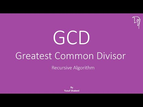 Recursion Algorithm | GCD - Greatest Common Divisor - step by step guide