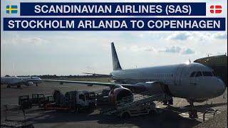 SCANDINAVIAN AIRLINES (SAS) - ECONOMY   STOCKHOLM TO COPENHAGEN   A320   SAS LOUNGE   TRIP REPORT