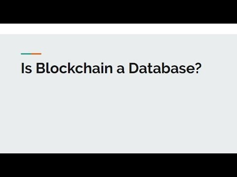 What's the difference between Blockchain and Database?