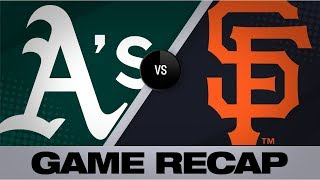 Giants score 8 runs in the 8th in 10-5 win | A's-Giants Game Highlights 8/24/19