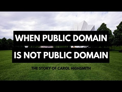 When Public Domain is NOT Public Domain - The Story of Carol Highsmith